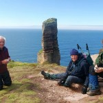 A typical group enjoying the Old Man of Hoy