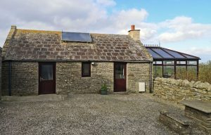 The Peedie House Self-catering and Solar Panel.